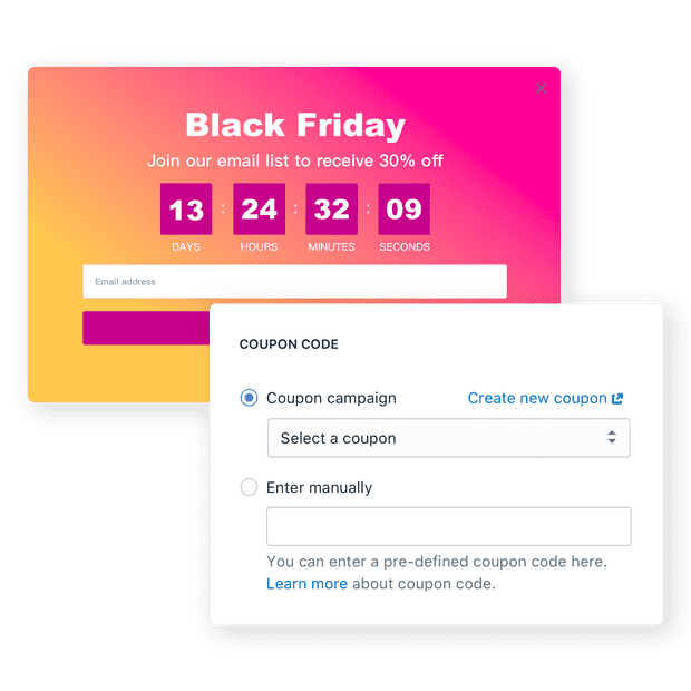 Add coupon to campaigns easily