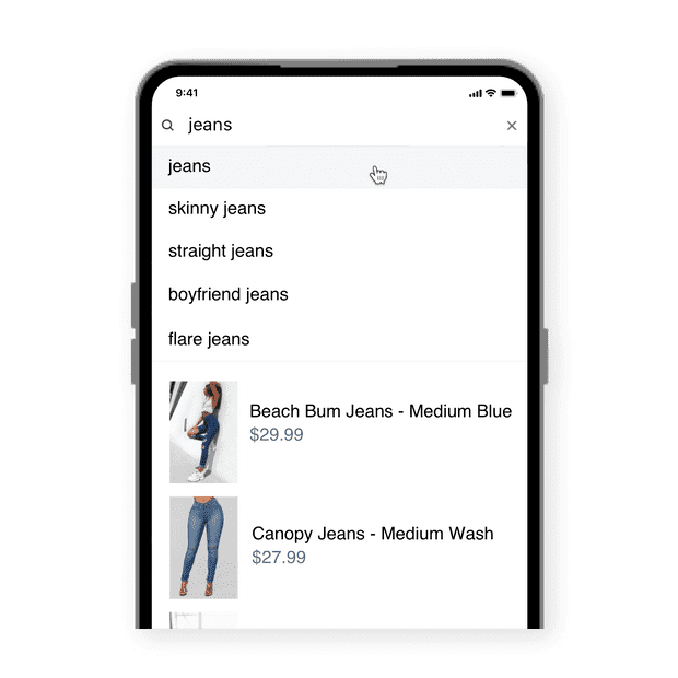 Instant product  search